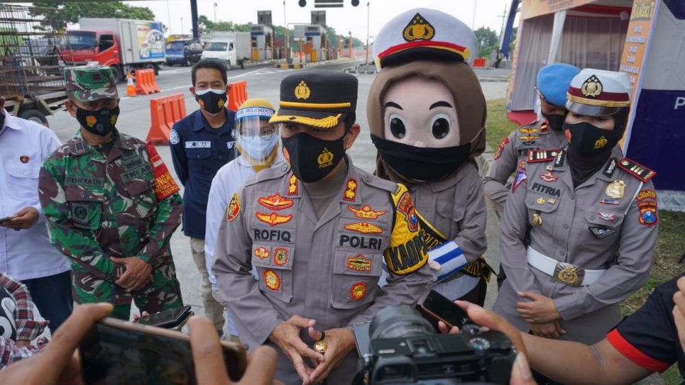Kapolres Mojokerto Kota AKBP Rofiq Ripto Himawan, SIK., SH., MH saat klarifikasi info Hoax(DOK:ist/Advokasi.co)