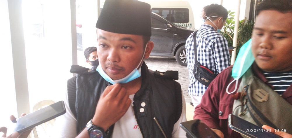 kepala desa Alang-Alang, Fahrur Rozi (dok.wahyu/advokasi).