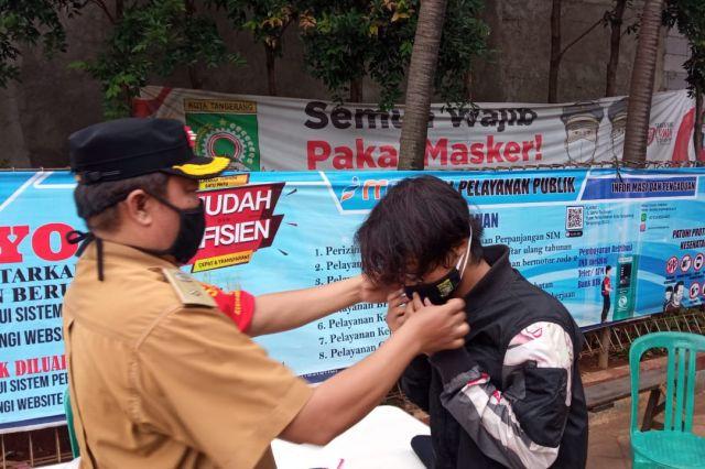 Operasi Masker Memutus Penyebaran Covid-19 Kelurahan Cimone Jaya Masih Berlanjut